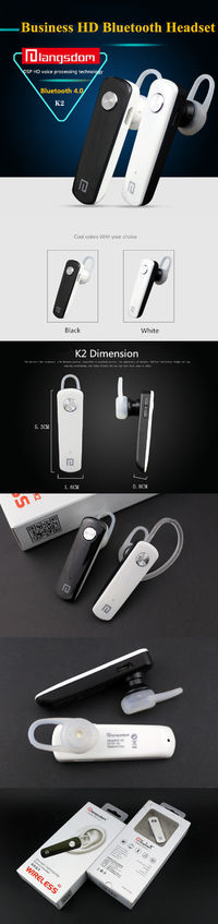 Langsdom K2 In-ear Business Wireless Bluetooth Earphone Bass Noise Cancelling Earbuds With HD Mic