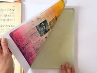 Hi it's Birgit here! Today I will show you how you can use old book pages and all kinds of (old and new) magazines for resist printing. It is a very unpredictab