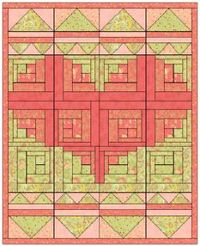 The block design for this Log Cabin Baby Quilt is special because it involves a lot of different shapes that make up a bigger shape. The two basic blocks are a