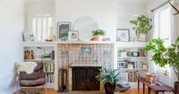 An eclectic living room complete with vintage goods.