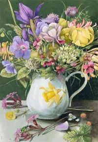 Marjolein Bastin- her art is so realistic & cheerful. She does a great job with nature.