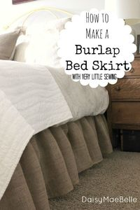 How to Make a Burlap Bedskirt