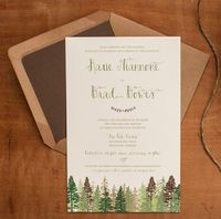 Rustic Wedding invitations The Katie Woodland by inoroutmedia, $100.00