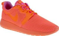 Nike Orange Roshe One Hyperfuse Br Womens Trainers Arriving with a breathable mesh upper and a phylon midsole for lightweight cushioning, the Roshe One Hyperfuse BR is light on your feet but heavy on style. Bold neon orange is joined with vibrant pink htt...