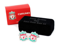 Personalised Football Cufflinks Liverpool Football Cufflinks Liverpool? Personalise this cufflink case with any message over 3 lines up to 20 characters per line for the ideal football fan present. Perfect gift for the occasion of Birthdays C http://www.c...