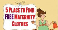 5 Place to Find FREE Maternity Clothes - Inexpensive Maternity Clothes