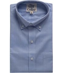 Blue Herringbone 2 Ply Cotton Button Down Regular Fit Shirt �'�1190.00