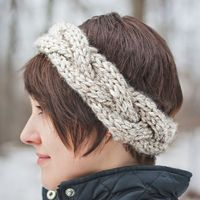 MARGO KNITS: Cable Crown Super Bulky Headband