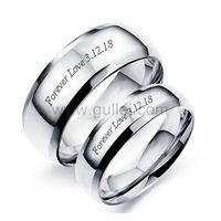 Personalized Names Titanium Couple Wedding Bands https://www.gullei.com/outside-personalized-names-titanium-simple-wedding-bands.html