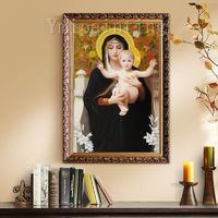 Jesus Christ Painting On Canvas Wall Art Pictures for living room Home Decor Jesus Christ Virgin Mary Holding The Jesus Art On Canvas $199.00