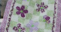 Wallflowers Quilt Pattern by fresh cut quilts downloadable pdf Daisy Dance Fabric