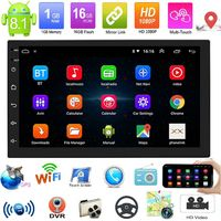 7 Inch 2 Din for Android 8.1 Car Radio Stereo Auto MP5 MP3 Player Quad Core 1GB+16GB GPS Touch Screen bluetooth Wifi FM
