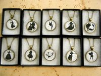 Disney Silhouette Cameo Necklace Collection