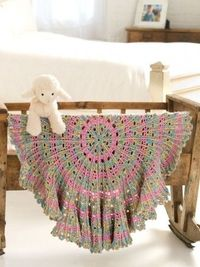 Yarnspirations.com - Caron Candy Cable Baby Blanket - Patterns | Yarnspirations