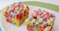 Trix Krispie Treats...These are SO GOOD! I make them a lot! The recipe calls for 12 cups of Trix, but I found it was too much cereal for the amount of marshmallow mixture, so I buy the 10.7 ounce box of Trix (which is about 9 cups) and it seems to...