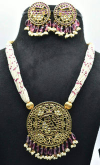 Beautiful Real ruby stones pendent haram with earrings $280.00
