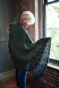 Bar Maid Shawl - Knitting Patterns and Crochet Patterns from KnitPicks.com