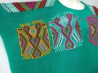 Handwoven Hand Embroidered One of a Kind Wearable Art Women's Huipil Blouse from Nebaj Guatemala Boho Tribal Indigenous Back-strap Loom WOW $99.00