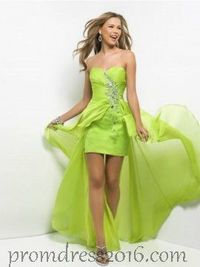 Sexy High Low Green Homecoming Dresses on Sale