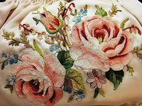 Vintage Embroidered Roses