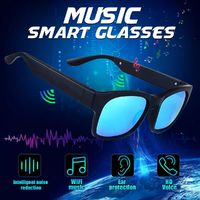 Smart Glasses Bluetooth Polarized Sunglasses Bone Conduction Headphone Headset Bluetooth Glasses