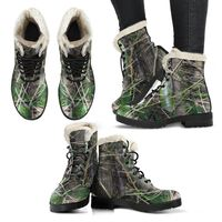 Faux Fur Leather Boots - Bamboo tree cluster in Rio Sabana park - El Yunque rainforest PR $79