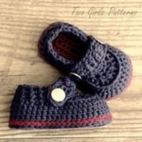 The Sailor Boot Crochet Booties by Lorin Jean (Two Girls Patterns) Ravelry: Pattern Search