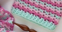 The Loopy Love Blanket was last week's free crochet pattern, and it includes 7 sizes. This week I'm sharing the Loopy Love Hat, which comes in 5 sizes to fit ne