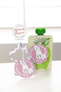 Personalized Unicorn Valentine Gift Tags for Children / Healthy Alternative to Candy Valentines for Kids / Unicorn First Birthday Party $14.24