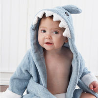 Mom and Dad are going fall for this terry-ific sea-inspired robe--hook, line and little stinker! After a refreshing bath time for baby, they'll want to wrap their wiggly, wet one in something cozy, absorbent and cute. Baby Aspen's Terry Shark ...