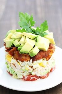 This Cobb Salad Recipe is not only incredibly delicious and easy to make, it's gorgeous to look at. Learn how to make a cobb salad and plate it!