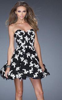 La Femme 20405 Prom Dress 2015 Sale Black White Lace