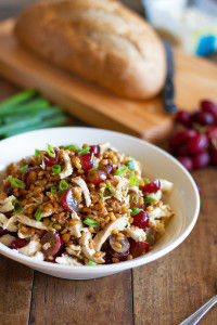 #Honey #Chicken #Salad with #Grapes and #Feta