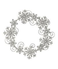 Look at this #zulilyfind! Snowflake Iron Wreath #zulilyfinds