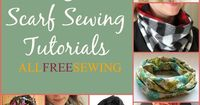 Learn how to make a scarf out of fleece material, how to make a ruffled scarf, how to make scarf fringe, and other scarf sewing tips and tricks with 30 Ways to