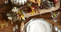 A lovely setting with garland. #potterybarn
