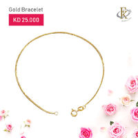 Treat yourself to one of life's little luxuries with stunning gold bracelet.