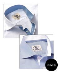 White Twill and Blue Oxford Inner Lining Shirt Combo �'�2699.00