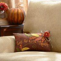 Burlap Give Thanks Pillow   Kirklands