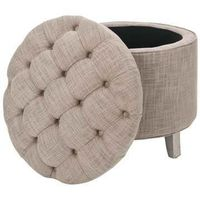 Amelia Ottoman Gray by Safavieh
