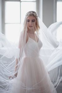 Wedding Veil Soft Tulle Bridal Veil Simple Elegant Cathedral Veil Soft Wedding Veil One Tier White Ivory Veil Raw Edge Chapel Veil $29.95