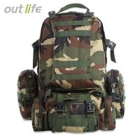 Outlife Outdoor 50L MOLLE Military Camping Hiking Backpack $55.66