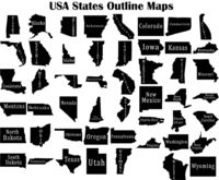 USA States Outline Maps Just for: $14.90