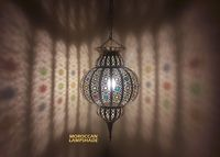Moroccan Ceiling Lamp, give a nice atmosphere into any room in your home $165.00