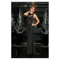 Xcite Prom - 30693 Sleeveless Lace Ornate Sheath Gown in Black - Designer Party Dress & Formal Gown