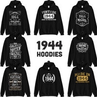 1944 Birthday Gift, Vintage Born in 1944 Hooded Sweatshirt for women men, 76th Birthday Hoodie for her him, Made in 1944 Hoodies 76 Year Old $23.99