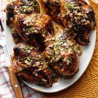 Spiced Grilled Chicken with Cilantro Lime Butter