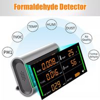 Digital Screen USB Rechargeable TVOC HCHO Formaldehyde Tester Air Quality Detector