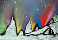 6th grade-Northern Lights winter lesson - a nice change from the usual More