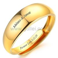 Gold Plated Mens Promise Ring Adjustable Size 7mm https://www.gullei.com/gold-plated-mens-promise-ring-adjustable-size-7mm.html
